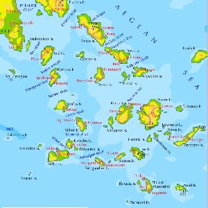 Kykladen Karte.Mittelmeer 2010